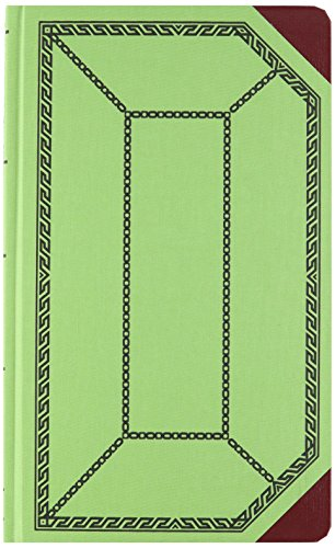 (Boorum & Pease 6718300R Record/Account Book, Record Rule, Green/Red, 300 Pages, 12 1/2 x 7 5/8 )