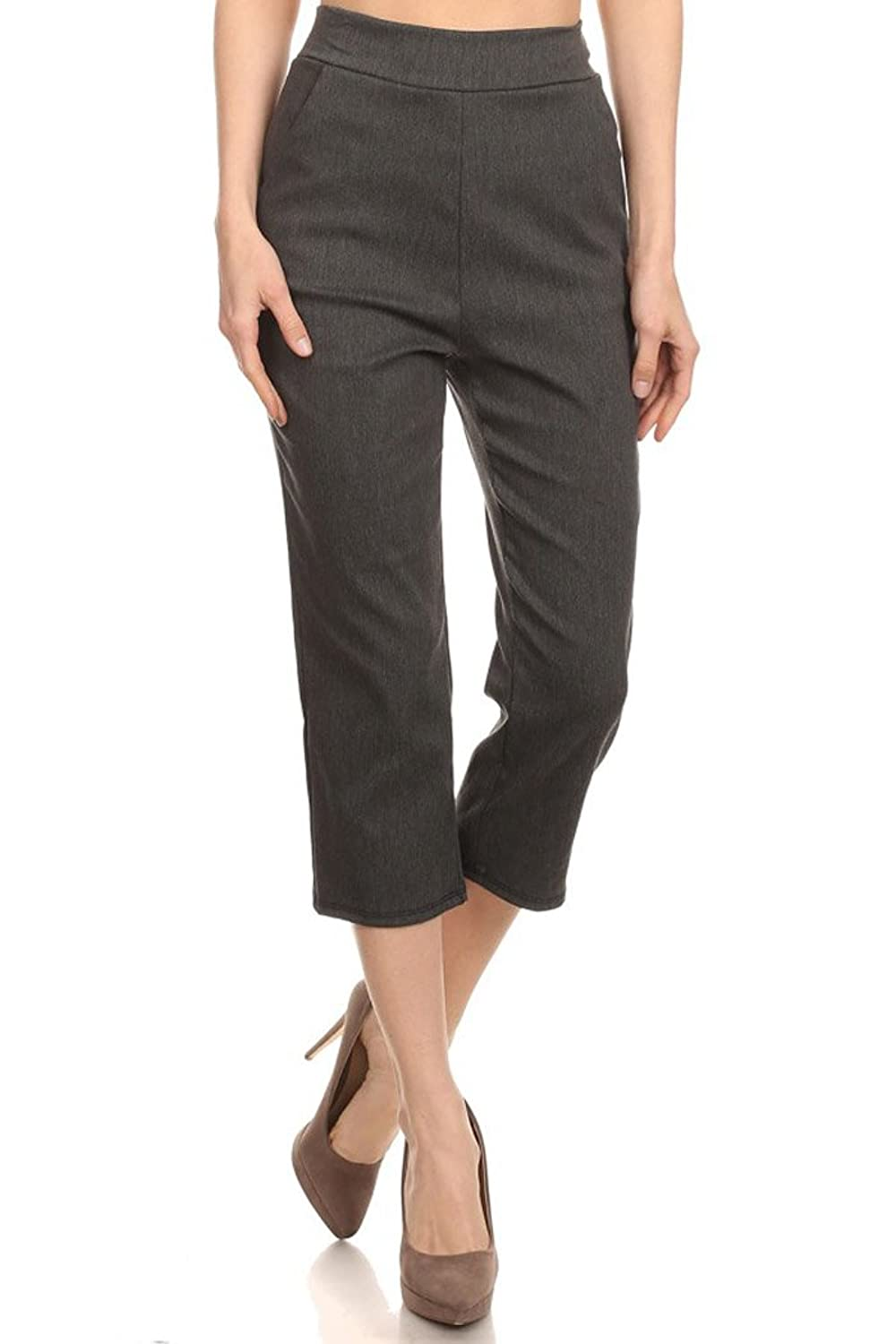 Women's Stretch Millennium Slim Style Crop Pants. MADE IN USA