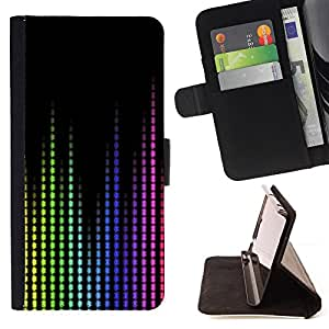 DEVIL CASE - FOR LG OPTIMUS L90 - Music Waves Sound Colorful Display Tech - Style PU Leather Case Wallet Flip Stand Flap Closure Cover
