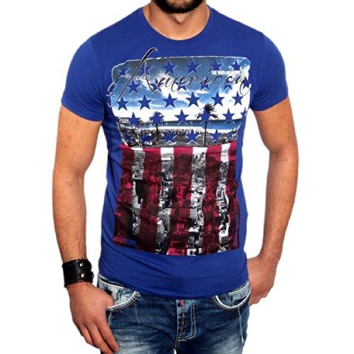T-Shirt 6630 R-Neal, Größe:S, Farbe:Sax