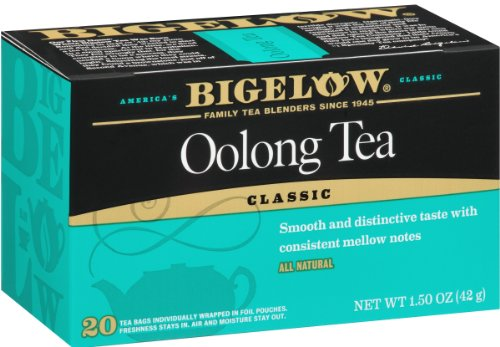 Bigelow Oolong Tea Bags 20-Count Boxes (Pack of 6), 120 Tea Bags Total.  Caffeinated Individual Black Tea Bags, for Hot Tea or Iced Tea, Drink Plain or Sweetened with Honey or Sugar (Oolong Tea Sweet Tea)