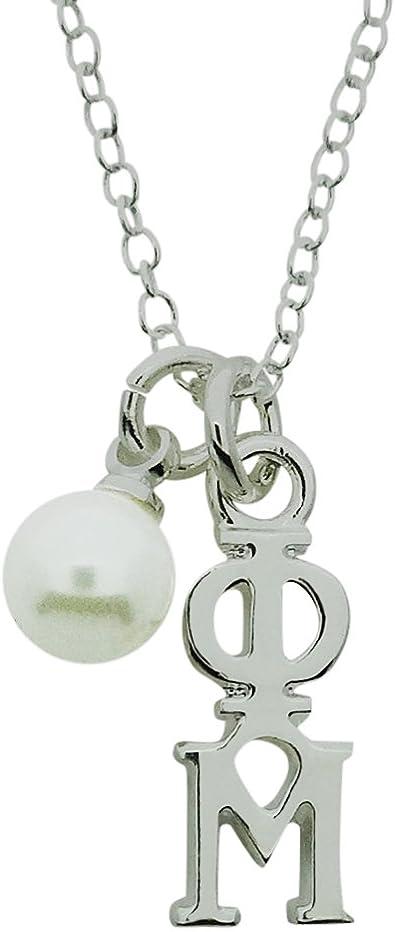 Big Little Gift Phi Mu Lavalier Phi Mu Sterling Silver Necklace