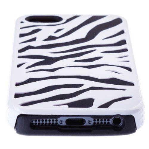 Zooky® schwarz Zebra Hülle / Schutzhülle / Cover für Apple Iphone 5 / 5S / SE