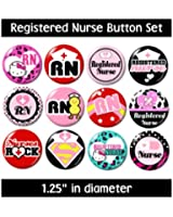 REGISTERED NURSE BUTTONS pins badges cute medical gifts nursing RN new