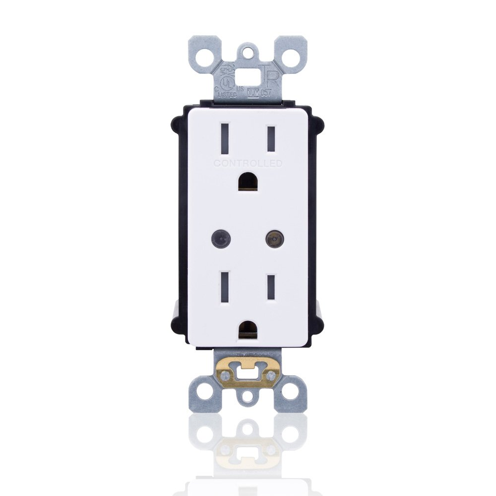 Leviton WSG15-DZ LevNet RF Split Duplex TR Receptacle with LED Locator