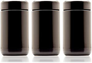 Infinity Jars 150 ml (5.07 fl oz) 3-Pack Tall Black Ultraviolet Refillable Empty Glass Screw Top Jar