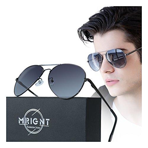 Men Classic Aviator polarized Sunglasses 100% UV Protection Driving Sun - Aviator Sun