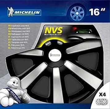 Michelin 009119 tapacubo - tapacubos (ABS sintéticos, Negro, Plata, Universal, Window box): Amazon.es: Coche y moto