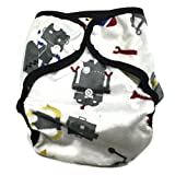 cloth diaper inserts fuzzi bunz - BB2 Baby One Size Printed Minky Minkee Snaps Cloth Diaper Cover for Prefolds (One Size, Robots & Spaceships)
