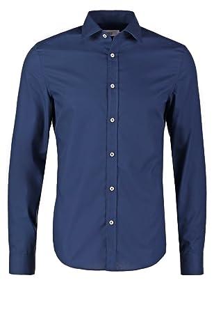 d43698aead8a8c PIER ONE Chemise pour Homme Slim Fit en Blanc, Bleu Marine ou Noir ...