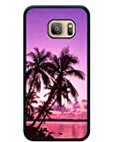img - for Tropical Palm Trees Sunset Beach Black Shell Phone Case Fit For Samsung Galaxy S7,Newest Cover book / textbook / text book