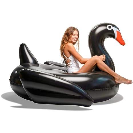 WEGCJU Negro Cisne Hinchable Juguete De Verano para Piscina ...