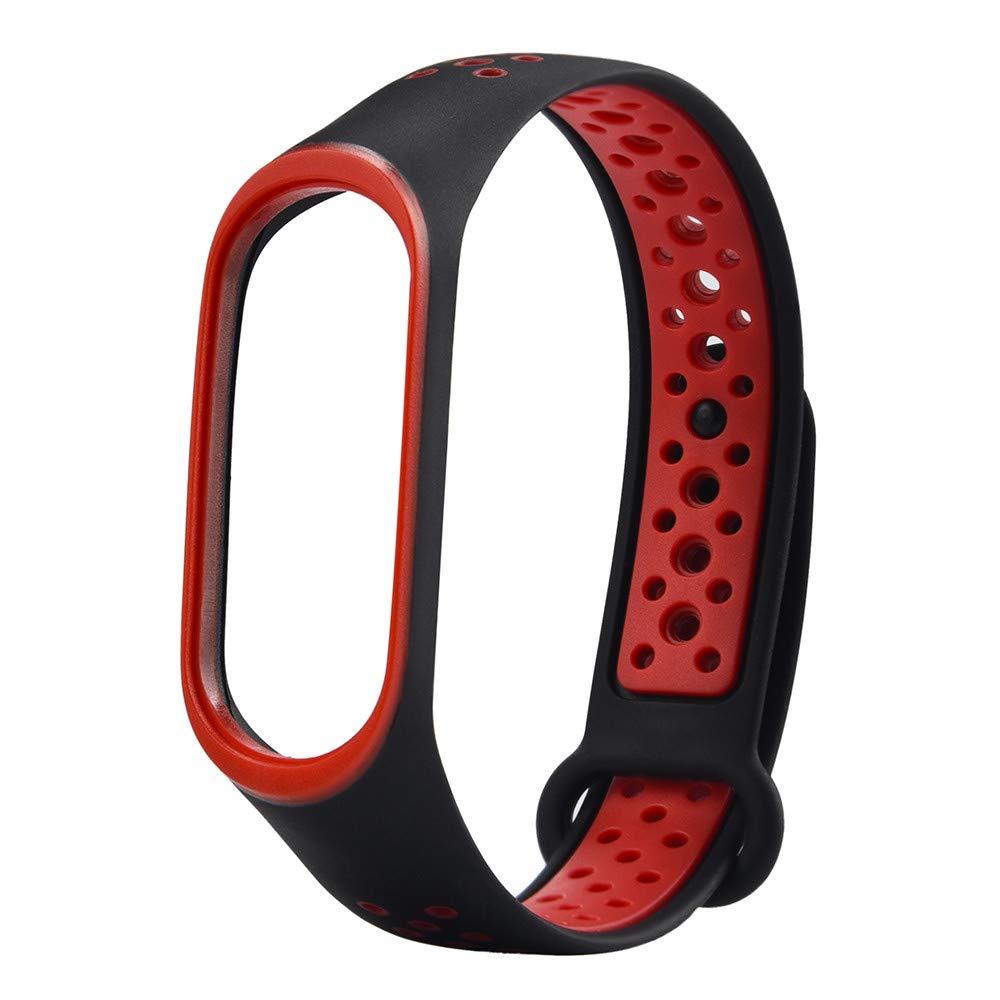 LANSKIRT Reemplazo Ventilador Correa Reloj de Pulsera Deportivo de muñeca Recambio Brazalete Extensibles Pulsera para Xiaomi Mi Band 3: Amazon.es: Juguetes ...