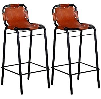 Superb Industrial Bar Stools Set Of 2 Pc Vintage Retro Style Ibusinesslaw Wood Chair Design Ideas Ibusinesslaworg
