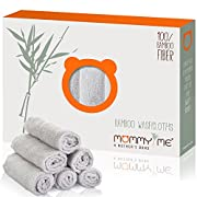 Bamboo Baby Washcloths Set (6-Pack) | Extra Soft & Absorbent Organic Bath Towels for Babies | Natural Hypoallergenic Reusable Wipes | Ideal Newborn Shower / Registry Gift