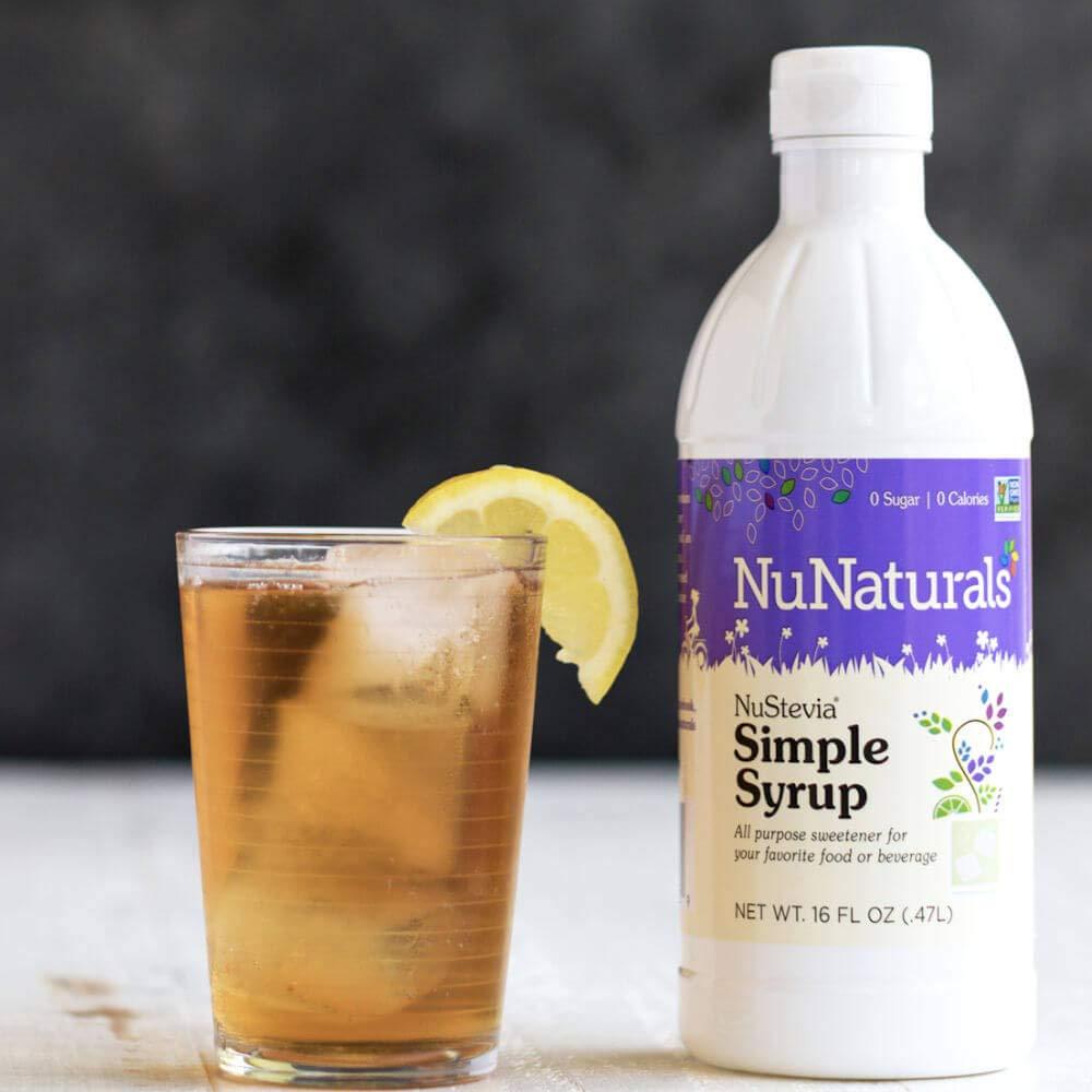 NuNaturals - NuStevia - Stevia Pure Simple Syrup - 16 Ounce