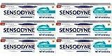 Sensodyne Deep Clean Toothpaste for Sensitive Teeth 0.8 Oz Travel Size (Pack of 6)