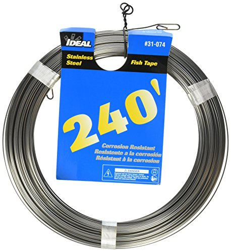 (Ideal 31-074 Fish Tapes, 120' Length, Stainless Steel)