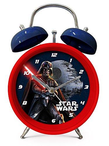 Star Wars Darth Vader Kinderwecker Wecker (301777), 12 x 5,3 x 16,8 cm, rot/blau