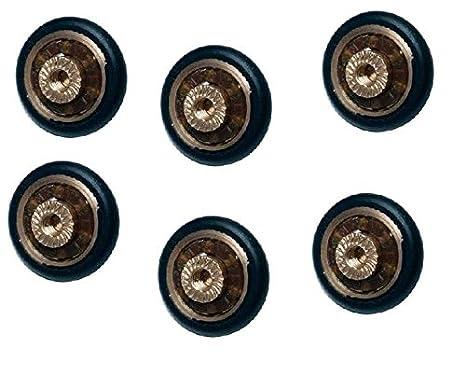 Ruedas con rodamientos para repuesto de mampara de ducha corrediza, 6 unidades, 20 mm de diámetro con tornillo M4. Tornillos incluidos: Amazon.es: Bricolaje ...