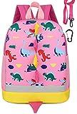 Kids Preschool Toddler Backpack for Girls & Leash Pink Dinosaur Deal