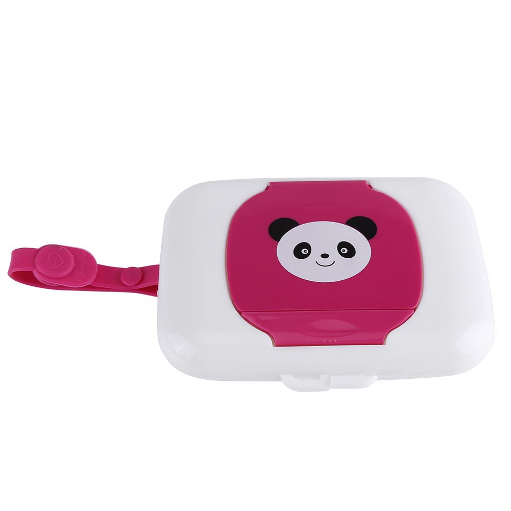 White + Rose GLOGLOW Wet Wipes Storage Box Cute Baby Travel Wipe Case Child Wet Wipes Box Changing Dispenser Refillable Container for Home Bathroom Living Room Outdoor Storage Holder