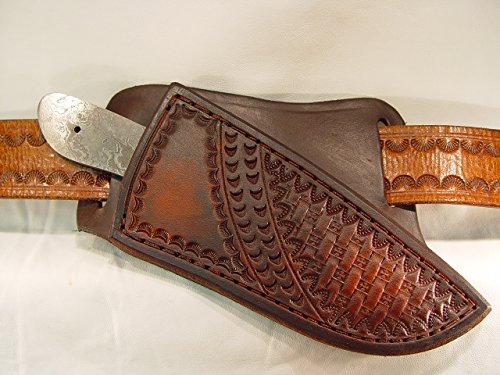 Skinner lether cross draw custom knife sheath only