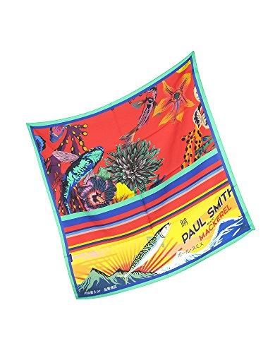 Paul Smith Men's Auxc172es27825 Red Silk Scarf by Paul Smith