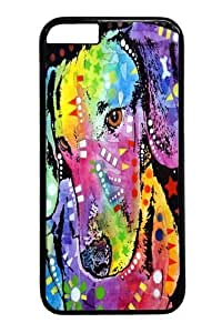 Case For Iphone 4/4S Cover ,tilted dachshund PC Hard Plastic Case For Iphone 4/4S Cover inch Black
