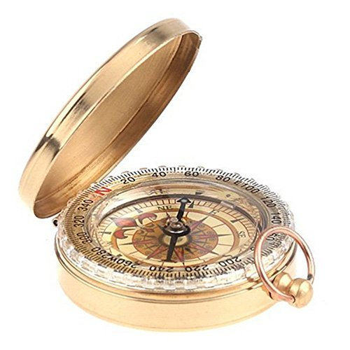 F Flammi Outdoor Camping Hiking Bronzing Antique Portable Flip Top Watch Style Pocket Compass