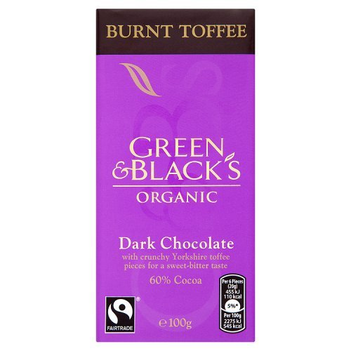 - GREEN & BLACKS Chocolate Bar Dark Burnt Toffee, 3.5 OZ