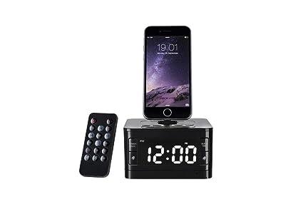 Amazon Com Charger Dock Station Fm Radio Alarm Clock Portable Audio