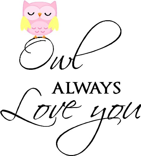 Epic Designs Owl Always Love You Cute Nursery Vinyl Wall Art Sayings Stickers Decals -