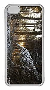 iPhone 5C Case, Personalized Custom Sun Through Trees for iPhone 5C PC Clear Case