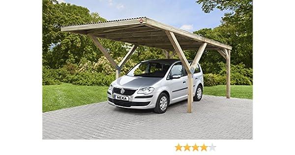 Weka - Carpa en Y con techo de acero, postes de 12 x 12 cm, carga de nieve 125 kp: Amazon.es: Jardín