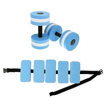 dovewill agua Kit de aeróbic acuático mancuernas - Cinturón de ...