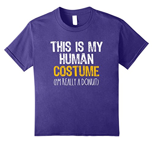 Kids This Is My Human Costume Donut Halloween Funny T-shirt 8 Purple - Donut Costume Halloween