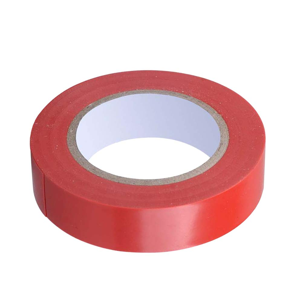 LIOOBO Selbstklebendes wasserdichtes Isolierband PVC flammhemmend elektrisch Isolierband für den industriellen Heimgebrauch rot - 1 STÜCKE
