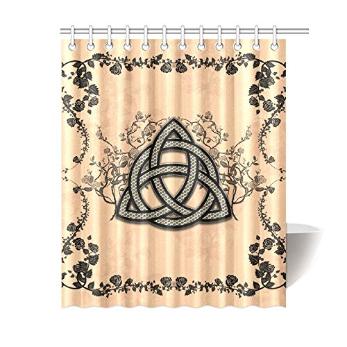 Happy More Custom The Celtic Sign Made Of Fibre Bathroom Waterproof Fabric 60x72 inch Shower Curtain