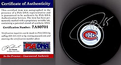 Andrew Shaw Autographed Signed Montreal Canadiens Logo Autograph Puck