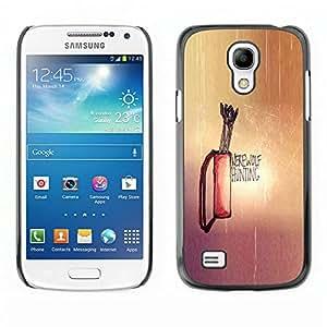 // PHONE CASE GIFT // Duro Estuche protector PC Cáscara Plástico Carcasa Funda Hard Protective Case for Samsung Galaxy S4 Mini i9190 / Werewolf Hunting /