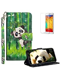 Funyye Strap Flip Cover for Samsung Galaxy A6 Plus 2018,Stylish 3D Bamboo Panda Design Magnetic Folio Wallet Leather Case with Credit Card Holder Slots PU Leather Cover for Samsung Galaxy A6 Plus 2018,Full Body Shockproof KickStand Protective Soft Silicone Case for Samsung Galaxy A6 Plus 2018 + 1 x Free Screen Protector