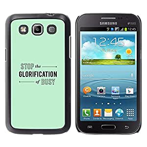 Paccase / SLIM PC / Aliminium Casa Carcasa Funda Case Cover para - Green Mint Color Calm Relax Yoga - Samsung Galaxy Win I8550 I8552 Grand Quattro