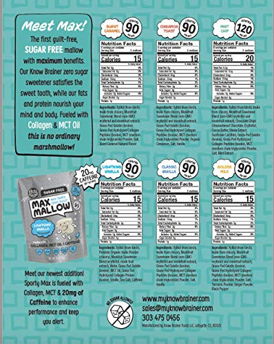 NEW Know Brainer Snacks Low Carb Keto Variety Pack Max Mallows - Atkins, Paleo, Diabetic Diet Friendly Health Snack - Gluten Free, Soy Free & Zero Sugar snack, Non-GMO Ketogenic 6 pack (20.3 ounces) 3