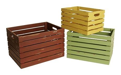 Gentil Wald Imports Multi Wood Decorative Storage Crates, ...