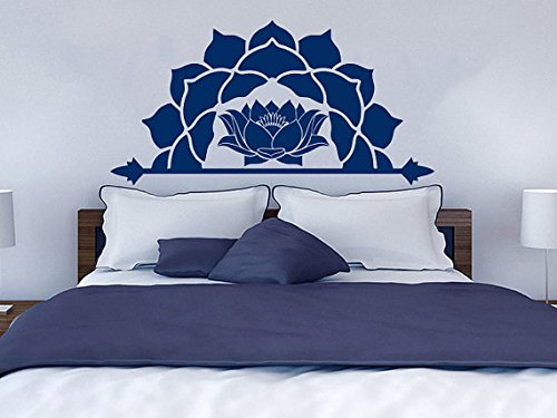Half Mandala Wall Decal Moroccan Pattern Namaste Lotus Flower