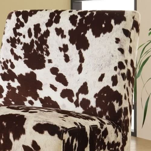 INSPIRE Q Peterson Cowhide Fabric Slipper Accent Chair - the best living room chair for the money