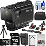 Sony Action Cam HDR-AS50 Wi-Fi HD Video Camera Camcorder 64GB Card + Battery & Charger + Case + Tripod + Flat Surface & 2 Helmet Mounts + Kit