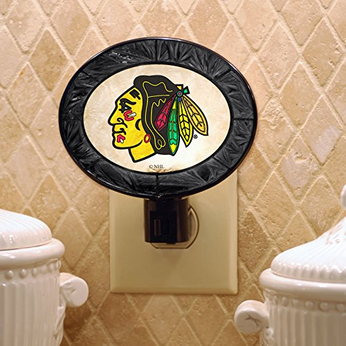 NHL Chicago Blackhawks Art-Glass Nightlight