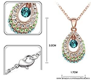 Nicedeco Green,swarovski Elements Austrian Crystal Jewelry Sets,tianzhu Princess of Ancient China,necklace and Earring(2-piece Set),elegant Style and Exquisite Craftsmanship